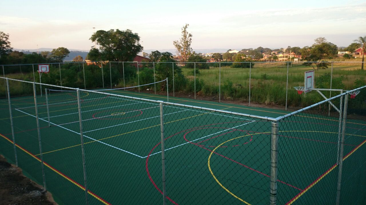 Basketball courts adriya sports fencing for Basketball court installation cost